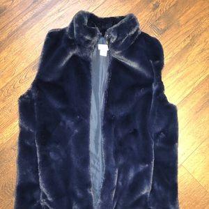 Jcrew fur vest new without tags